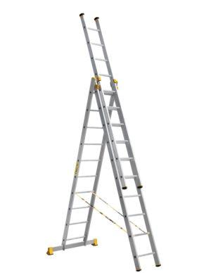 лестница алюминиевая трёх секционная